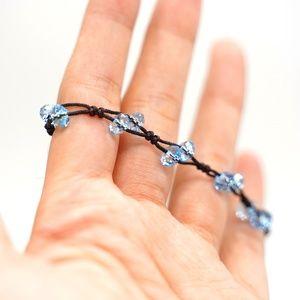 CatstoneNYC Celestite Blue Crystal String Bracelet